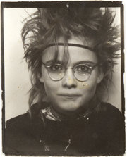 Coco in a photobooth in Stockholm, 1982